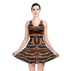 Skin2 Black Marble & Rusted Metal (r) Reversible Skater Dress by trendistuff