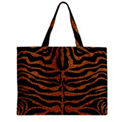 Skin2 Black Marble & Rusted Metal (r) Zipper Mini Tote Bag