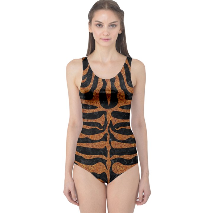 SKIN2 BLACK MARBLE & RUSTED METAL (R) One Piece Swimsuit