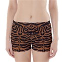 SKIN2 BLACK MARBLE & RUSTED METAL (R) Boyleg Bikini Wrap Bottoms View1