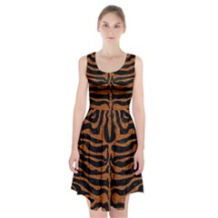 Skin2 Black Marble & Rusted Metal (r) Racerback Midi Dress