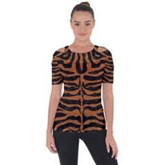 Skin2 Black Marble & Rusted Metal (r) Short Sleeve Top by trendistuff
