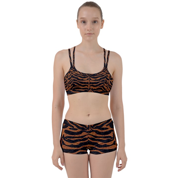 SKIN2 BLACK MARBLE & RUSTED METAL (R) Women s Sports Set