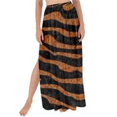 Skin2 Black Marble & Rusted Metal (r) Maxi Chiffon Tie Up Sarong