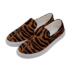 Skin2 Black Marble & Rusted Metal (r) Women s Canvas Slip Ons by trendistuff