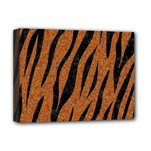 Skin3 Black Marble & Rusted Metal Deluxe Canvas 16  X 12   by trendistuff