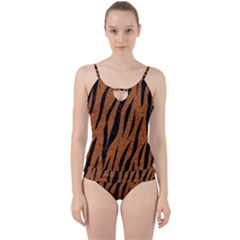 Skin3 Black Marble & Rusted Metal Cut Out Top Tankini Set by trendistuff