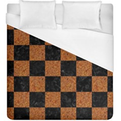 Square1 Black Marble & Rusted Metal Duvet Cover (king Size) by trendistuff
