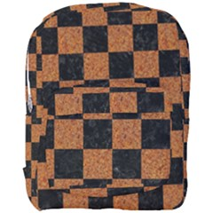 Square1 Black Marble & Rusted Metal Full Print Backpack by trendistuff
