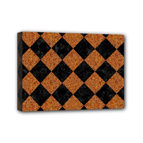 Square2 Black Marble & Rusted Metal Mini Canvas 7  X 5  by trendistuff