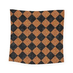 Square2 Black Marble & Rusted Metal Square Tapestry (small) by trendistuff
