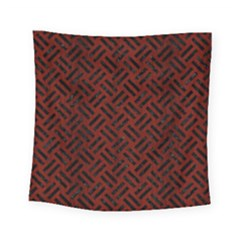 Woven2 Black Marble & Reddish Brown Wood Square Tapestry (small) by trendistuff
