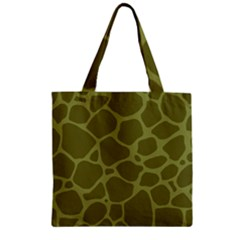Autumn Animal Print 1 Zipper Grocery Tote Bag by tarastyle