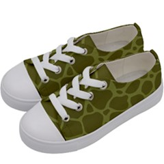 Autumn Animal Print 1 Kids  Low Top Canvas Sneakers by tarastyle