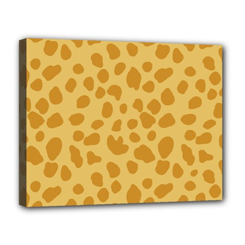 Autumn Animal Print 2 Canvas 14  X 11  by tarastyle