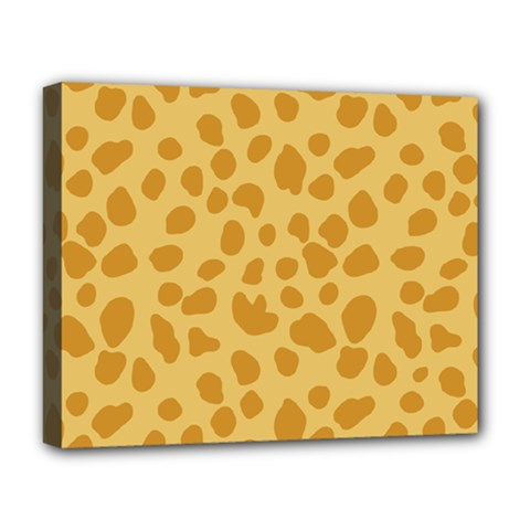 Autumn Animal Print 2 Deluxe Canvas 20  X 16   by tarastyle