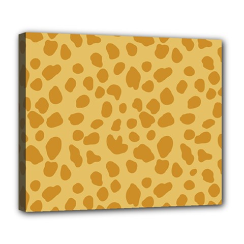 Autumn Animal Print 2 Deluxe Canvas 24  X 20   by tarastyle