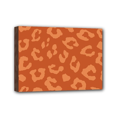 Autumn Animal Print 3 Mini Canvas 7  X 5  by tarastyle