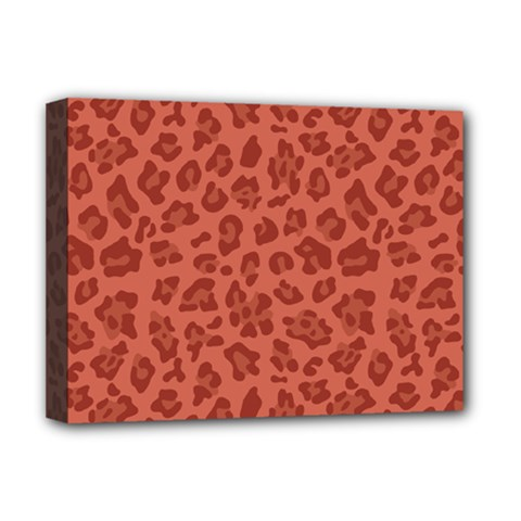 Autumn Animal Print 4 Deluxe Canvas 16  X 12   by tarastyle