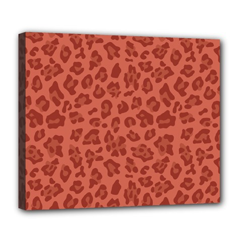 Autumn Animal Print 4 Deluxe Canvas 24  X 20   by tarastyle