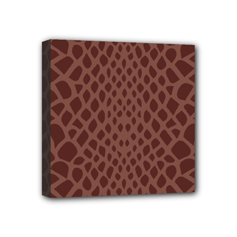 Autumn Animal Print 5 Mini Canvas 4  X 4  by tarastyle