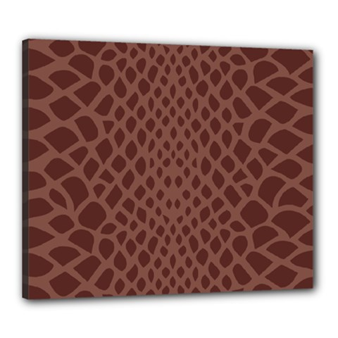 Autumn Animal Print 5 Canvas 24  X 20  by tarastyle