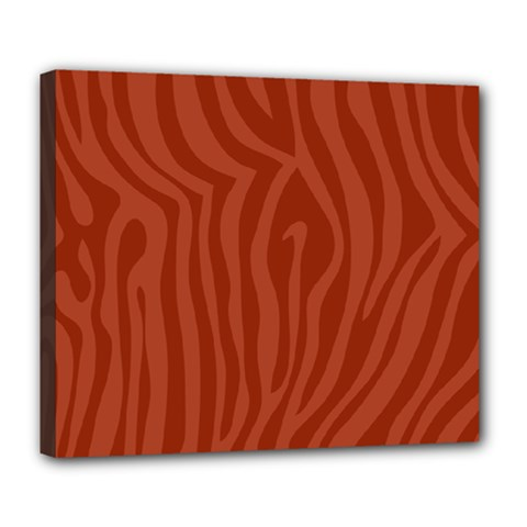 Autumn Animal Print 8 Deluxe Canvas 24  X 20   by tarastyle
