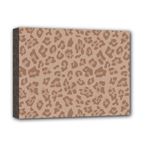 Autumn Animal Print 9 Deluxe Canvas 16  X 12   by tarastyle