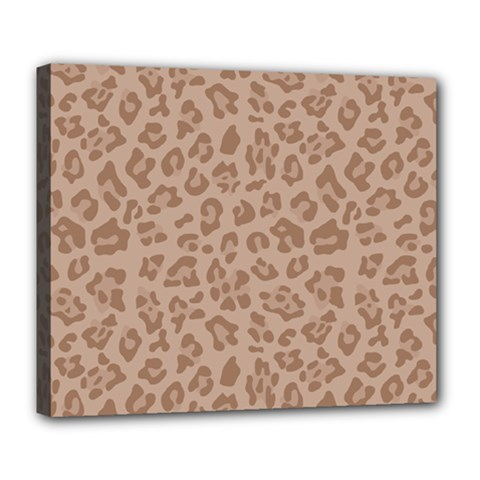 Autumn Animal Print 9 Deluxe Canvas 24  X 20   by tarastyle