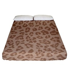 Autumn Animal Print 9 Fitted Sheet (queen Size)