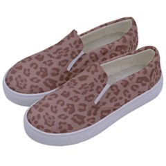 Autumn Animal Print 9 Kids  Canvas Slip Ons by tarastyle