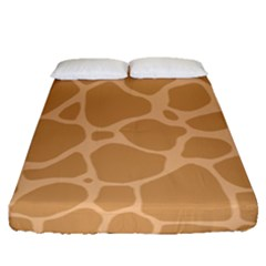 Autumn Animal Print 10 Fitted Sheet (queen Size) by tarastyle
