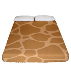 Autumn Animal Print 10 Fitted Sheet (King Size)