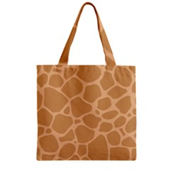Autumn Animal Print 10 Zipper Grocery Tote Bag