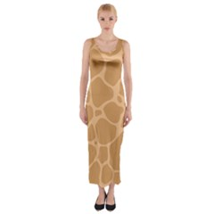 Autumn Animal Print 10 Fitted Maxi Dress