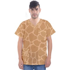 Autumn Animal Print 10 Men s V Neck Scrub Top