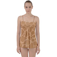 Autumn Animal Print 10 Babydoll Tankini Set by tarastyle