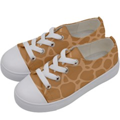 Autumn Animal Print 10 Kids  Low Top Canvas Sneakers by tarastyle