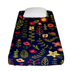 Cute Doodle Flowers 1 Fitted Sheet (single Size) by tarastyle