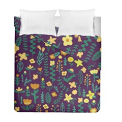 Cute Doodle Flowers 2 Duvet Cover Double Side (full/ Double Size) by tarastyle