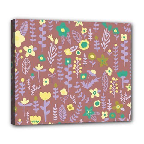 Cute Doodle Flowers 3 Deluxe Canvas 24  X 20   by tarastyle
