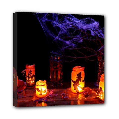 Awaiting Halloween Night Mini Canvas 8  X 8  by gothicandhalloweenstore