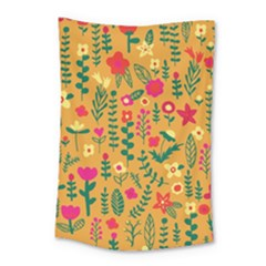 Cute Doodle Flowers 4 Small Tapestry by tarastyle