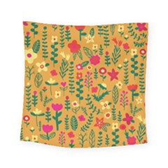 Cute Doodle Flowers 4 Square Tapestry (small) by tarastyle