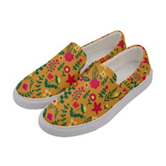 Cute Doodle Flowers 4 Women s Canvas Slip Ons by tarastyle