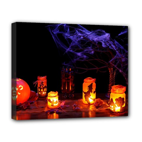 Awaiting Halloween Night Deluxe Canvas 20  X 16   by gothicandhalloweenstore