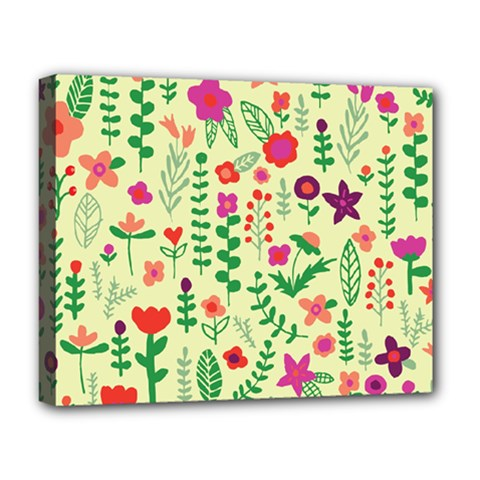 Cute Doodle Flowers 5 Deluxe Canvas 20  X 16   by tarastyle