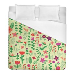 Cute Doodle Flowers 5 Duvet Cover (full/ Double Size) by tarastyle