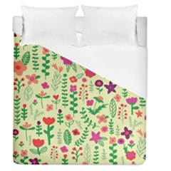 Cute Doodle Flowers 5 Duvet Cover (queen Size) by tarastyle