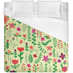 Cute Doodle Flowers 5 Duvet Cover (king Size) by tarastyle